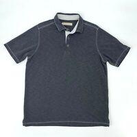 Tommy Bahama Polo Shirt Men's Size M Gray Short Sleeve Modal Blend Casual