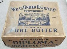 More details for wilts united dairies antique cardboard butter box c1900