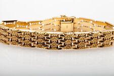 Antique $6000 Orange Blossom 1940s RETRO 14k Yellow Gold Bracelet HEAVY