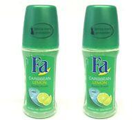 Fa Caribbean Lemon Exotic Fresh Lemon Scent 48H Protection Skin Freindly 50ml