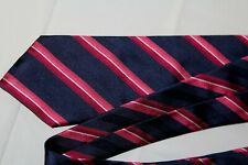 BOLGHERI Made in Italy Men's Silk Tie Blues Pink Red Striped
