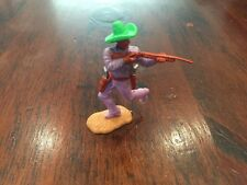 """Timpo Bandit Sharpshooter - Lime Green """"Ten Gallon"""" Hat & Lilac Legs - 1970's"""