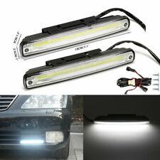 2x 10W Car LED COB DRL Day Running Light Daylight Fog Driving Signal Lamp 6000K