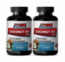 Coconut Oil 3000mg  Supreme Fat Burner Increase Your Energy, Super-food Pills 2B