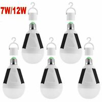 1-5Pc  E27 Solar Panel Powered LED Bulb Light Portable Outdoor Camping Tent Lamp