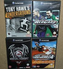 JOB LOT 4 x NINTENDO GAMECUBE GAMES Tony Hawk Skater 4 Underground Mortal Kombat