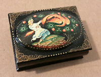 Russian painted box, good condition, 2.5 inches long, good condition.