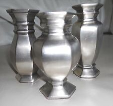 Pottery Barn  - Pewter - Estate Bud Vases - Set of Three - NIB