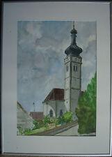 Bavière Baroque Église Tableau mais Où ? Wer Sait aux Lieu ?? Signé