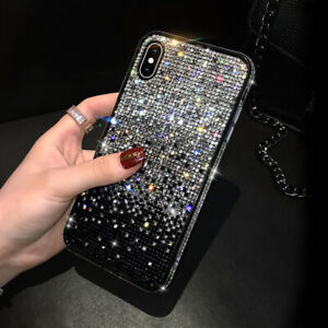 For Samsung Galaxy S21 Ultra S10 S9 S20 Bling Glitter Sparkly Diamond Case Cover