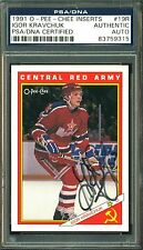 1991 OPC RED ARMY #19R IGOR KRAVCHUK NM AUTOGRAPH AUTO SIGNED PSA DNA CERTIFIED