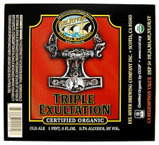 Eel River Brewing TRIPLE EXULTATION  beer label SCOTIA CA 22oz Var. #2