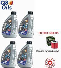 QUATTRO LITRI OLIO MOTORE + FILTRO BOMB- CAN AM GS SPYDER SEMI- MOTORE 990 08/12