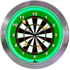DARTS NEON CLOCK   In store pick up only