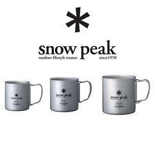 Snow Peak Titanium Double Wall Insulated Mug w/ Folding Handle