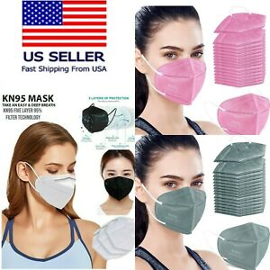 50/100 PCS Black/White KN95 Protective 5 Layer Face Mask Disposable K N95 Marks