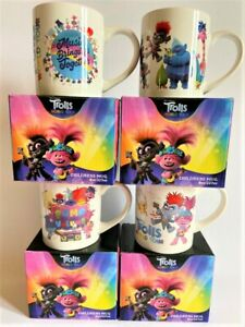 TROLLS WORLD TOUR CERAMIC MUGS  - 4 TO CHOOSE FROM - BOXED - NEW - LICENCED