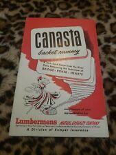 Canasta Basket Rummy Book
