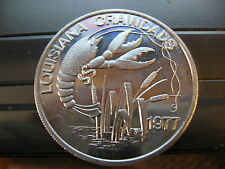 crawfish mud bug crawdads 1977 mardi gras doubloon new orleans coin