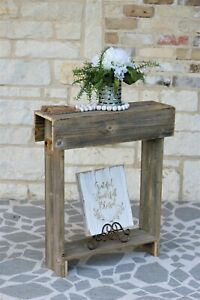 Rustic Skinny Wall Table