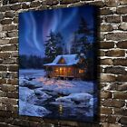 Framed Canvas Print Wall Art Pictures Home Decor Winter Landscape Christmas Gift