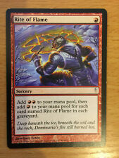 MTG 1x Rite of Flame Sorcery Red Mountain Coldsnap Set Magic the Gathering Card