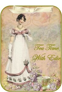 Vintage inspired Tea party invitation Jane Austen set of 8 with envelopes