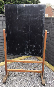 ANTIQUE FREESTANDING DOUBLE SIDED SCHOOL BLACKBOARD C.1920 COLLECTION FROM TS16