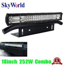 "18"" 252W LED Light Bar Combo Flood Spot License Plate Mount Bracket Truck SUV"