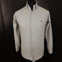 Polo Ralph Lauren Mens Shirt SMALL Long Sleeve Regular Striped Heavy Cotton