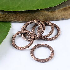 60pcs copper tone heart ring charms findings H1945