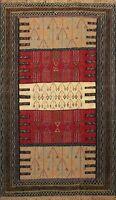 Tribal Kilim Geometric Hand-Woven Area Rug Nomad Oriental Home Decor Carpet 4x6