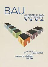 Bauhaus 1924 Building Exhibition by Hermann Misler. Vintage Bauhaus Poster