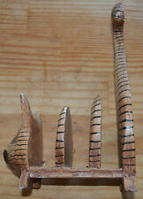 Chat en bois peint, porte lettre ou cartes, excellent état,
