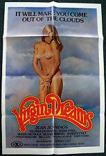 VIRGIN DREAMS – JEAN JENNINGS – ORIGINAL 1977 ADULT X-RATED MOVIE POSTER –NM