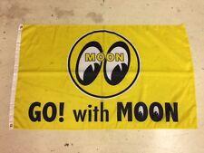 Moon Banner Flag ~ Ratrod Hotrod Custom Spinner Equipped Custom