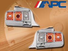 APC LED LOOK TAIL BRAKE LAMPS LIGHTS PAIR CHROME/ CLEAR FOR 05-09 FORD MUSTANG