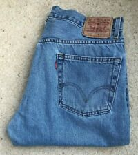 Mens Levis 505 Regular Fit Straight Leg Blue denim jeans W 36 L 29