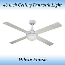Revolve 48 inch - 1200mm Ceiling Fan with Light in White Finish