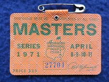 Vintage 1971 Augusta National Masters Golf Tournament Badge won by Charles Coody
