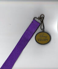 DISNEY CATALOG~VILLIANS LANYARD & MEDALLION FROM 2002~NEW~RARE