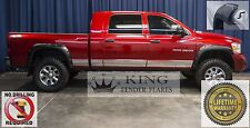 2002-2008 DODGE RAM 2500 3500 POCKET RIVET Bolt-On KING FENDER FLARES SMOOTH