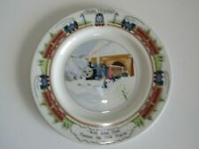 "Wedgwood Bone China With Love from Thomas the Tank Engine 8"" Christmas plate"