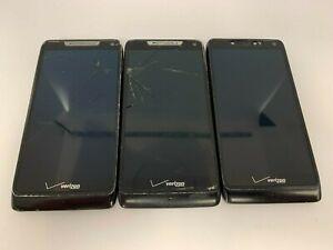 Motorola Droid RAZR M - XT907- (3 PHONES)  8GB -Black (Unlocked Vz) Smartphones