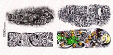 1/12 Scale Custom Tattoos for action figures: Sleeves Waterslide Decals