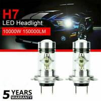 2x H7 LED Fog Tail Lamp 100W Car Head Light Bulb Super Bright COB 6000K White YK