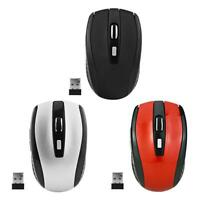 Portable 6 Buttons 2.4GHz USB Wireless Mouse 1600DPI Optical Mice 10m for Laptop