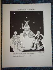 Ch. DUBIN Litho RESISTANCE VERCINGETORIX JEANNE D'ARC CAMBRONNE 39/45 WW2 1945