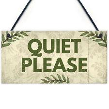 Quiet Please Do Not Disturb Hanging Door Plaque Salon Treatment Bedroom Sign
