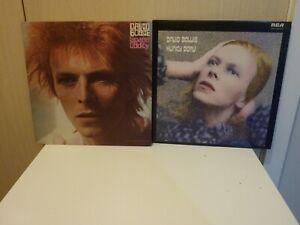 DAVID BOWIE - Hunky Dory & Space Oddity - 2 x UK Early RCA LP BUNDLE EX **SALE**